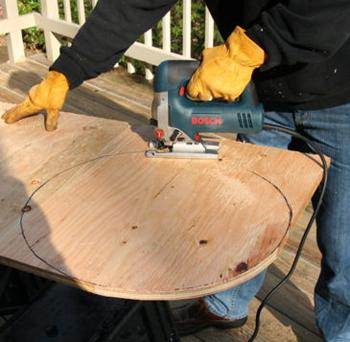 Как сделать круг на дереве 287