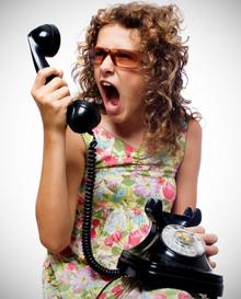 разговор по телефону