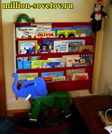 книжная полка Эту оригинальную детскую книжную полку-карман можно сделать из