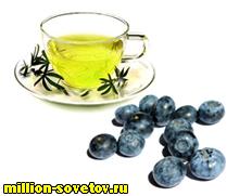 зеленый чай и черника