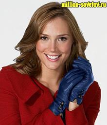 девушка с перчатками