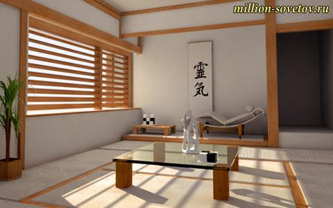 японский интерьер в дизайне помещения