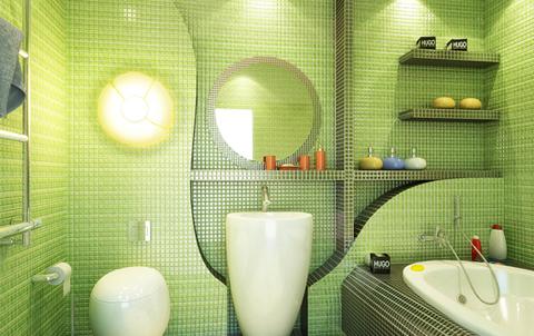 зеленая ванна