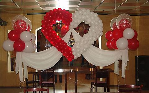 воздушные шарики в форме сердца