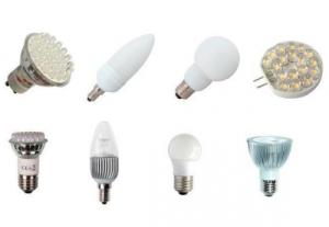 светодиодные лампы разных видов с разными цоколями