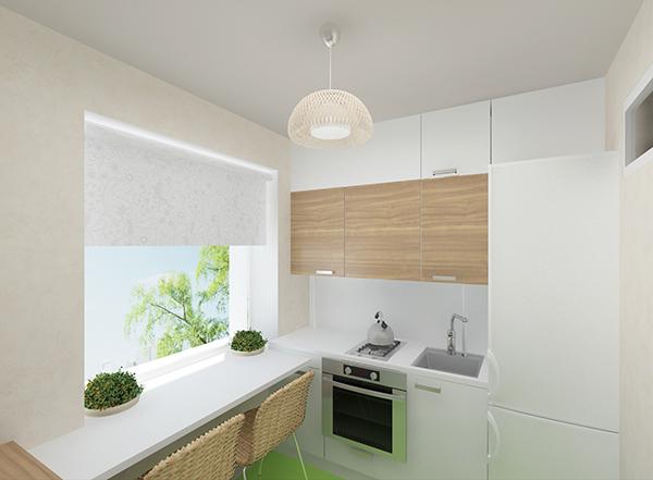 кухня в спокойных оттенках