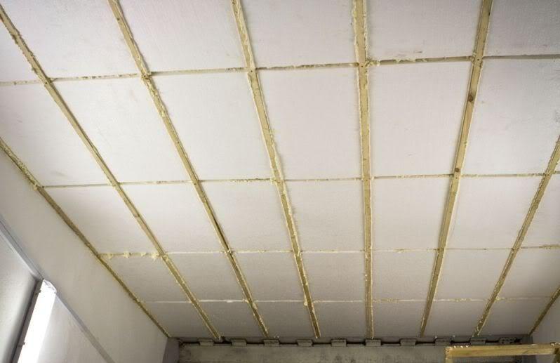утепление потолка в лоджии